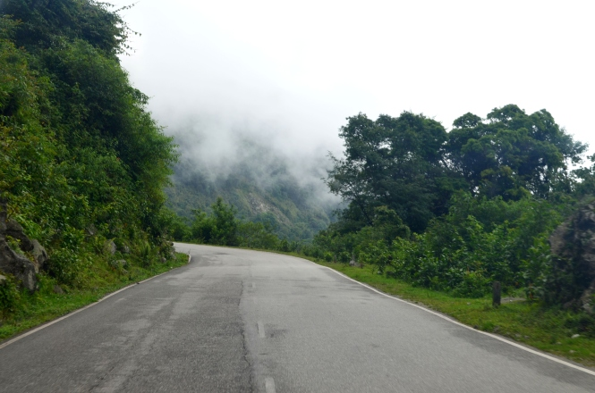 Bhutan road to Thimpu Travel